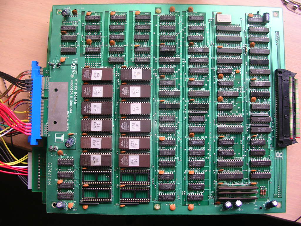 Bubble Bobble Repair Logs Arcade Otaku Wiki Electronic Circuit Board With Processor Boards Stock Pcb 2