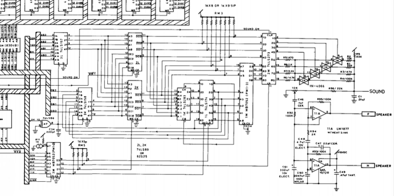 Schematic portion of the audio section.